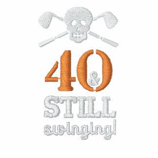 40 u. noch schwingen - Golf-Geburtstags-Shirt Polo Shirt
