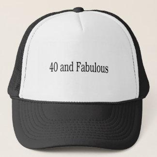 40 und fabelhaft truckerkappe