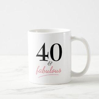 40 und fabelhafte 40. Geburtstags-Geschenk-Tasse Kaffeetasse