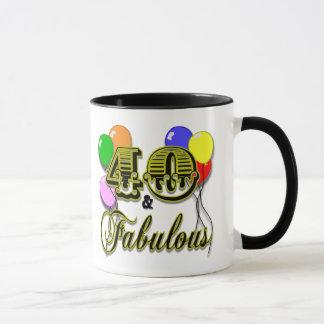 40 und fabelhafte Geburtstags-Geschenke und Kleid Tasse