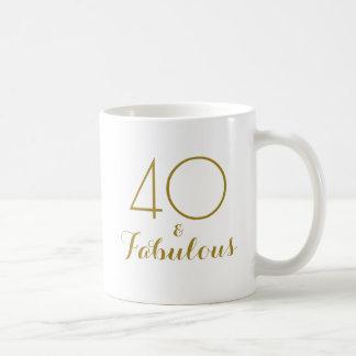 40 und fabelhaftes 40. kaffeetasse