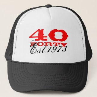 40. Vintager Hut | des Geburtstages stellte 1973 Truckerkappe