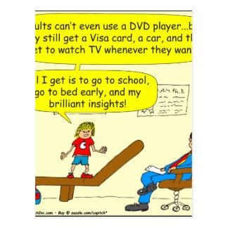 418 Erwachsene kippen Gebrauch DVD Spieler Cartoon Postkarte