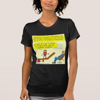 418 Erwachsene kippen Gebrauch DVD Spieler Cartoon T-Shirt