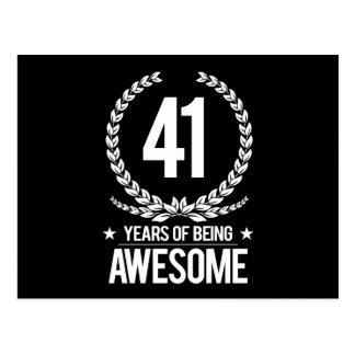 41. Geburtstag (41 Jahre des Seins fantastisch) Postkarte