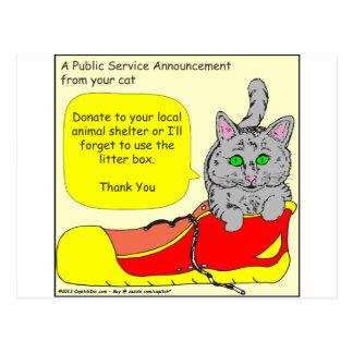 420 spenden zu Tierschutz Cartoon Postkarte