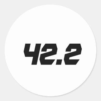 42,2 Aufkleber-Marathon Runder Aufkleber