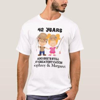 42. Jahrestags-kundenspezifisches Geschenk für ihn T-Shirt