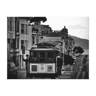 42 X 32 SCHWARZ U. WEISSER SAN FRANCISCO LEINWANDDRUCK