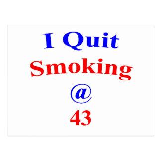 43 beendigtes Rauchen Postkarte