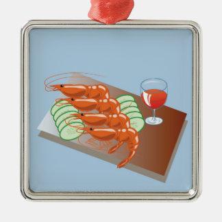 43shrimps silbernes ornament