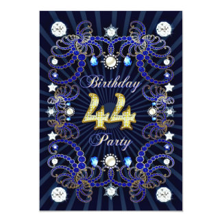 44. Geburtstags-Party laden mit Massen der Juwelen Personalisierte Ankündigung