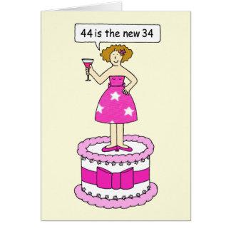 44 ist der neue 34 Geburtstag Gael Humor für sie Karte
