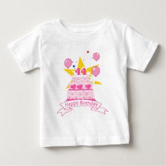 44 Jährig-Geburtstags-Kuchen Baby T-shirt