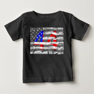 44. Präsident Obama Fan Flag Baby T-shirt
