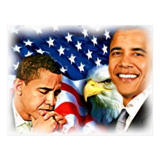 44. u. 45. Präsident Barack Obama_ Postkarte