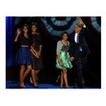 44. USA-Präsidentenfamilie Postcard-2012 Re-Elektr Postkarte