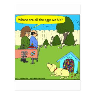 456, wo die Ostereier sind - färben Sie Cartoon Postkarte