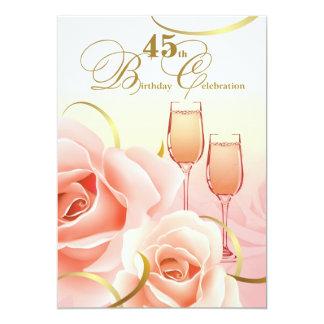 45. Geburtstags-Feier-Gewohnheits-Einladungen 12,7 X 17,8 Cm Einladungskarte