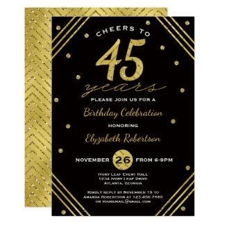 45. Geburtstags-Party Einladung, Beifall, Karte