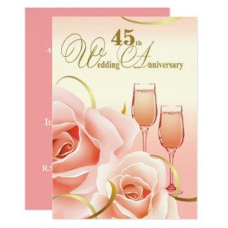 45. Hochzeits-Jahrestags-Party Einladungen