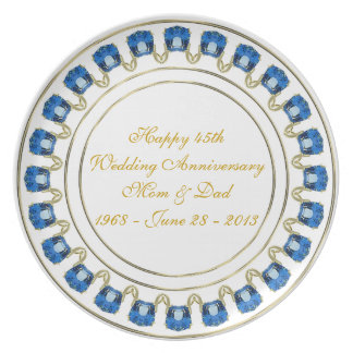 45. Hochzeitstag-Melamin-Platte Melaminteller
