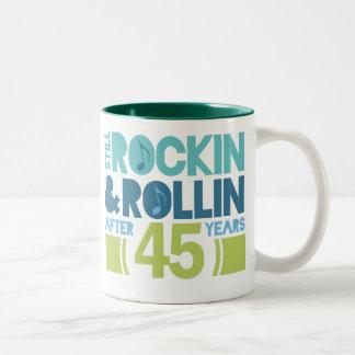 45. Jahrestags-Hochzeits-Geschenk Zweifarbige Tasse
