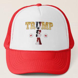 45 POTUS Trumpf USA-GoldGlitter-Flaggen-Farbe Truckerkappe
