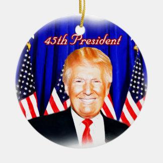 45. Präsident-Donald Trumpf _ Keramik Ornament
