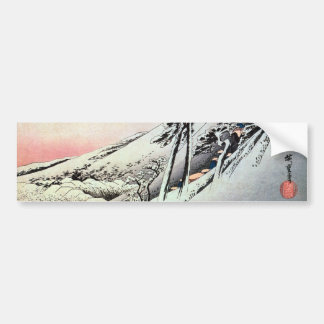 47. 亀山宿, 広重 Kameyama-juku, Hiroshige, Ukiyo-e Autoaufkleber