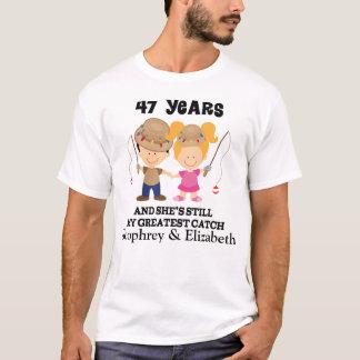 47. Jahrestags-kundenspezifisches Geschenk für ihn T-Shirt