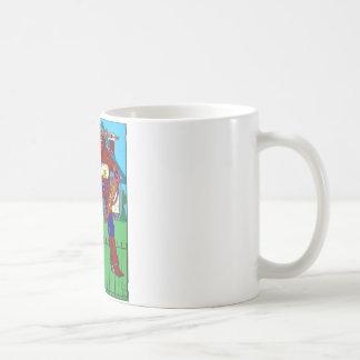 481 passen Sie vom Hunderoboter-Cartoon auf Kaffeetasse