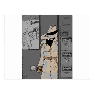 485 Spitzen - geheimer unterer geheimer Cartoon Postkarte