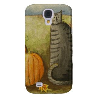4874 Ernte-Katze Halloween Galaxy S4 Hülle