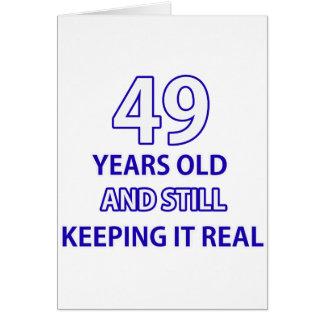 49-Geburtstags-Entwurf Karte