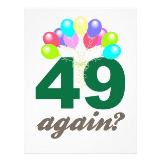 49. Geburtstags-Geschenke/Souvenits 21,6 X 27,9 Cm Flyer