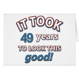 49. Geburtstagsentwürfe Karte