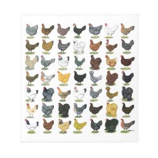 49 Huhn-Hennen Notizblock