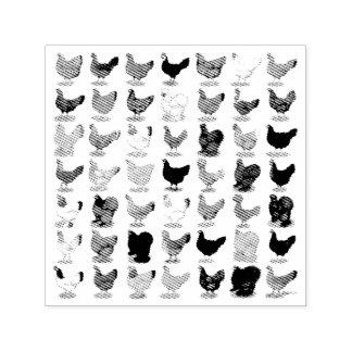 49 Huhn-Hennen Permastempel