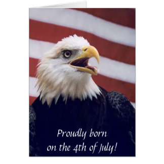 4. der b'day Adlers u. Flagge Julis Grußkarte