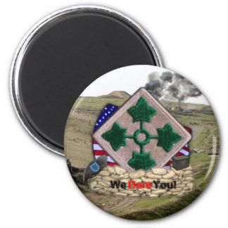 4. der Infanteriedivisionflecken-Irak-Krieg Runder Magnet 5,7 Cm