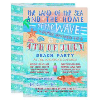 4. der Juli-Strand-oder des Pool-Party-  Karte