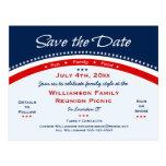 4. des Juli-Familien-Wiedersehen, Party, Save the Postkarten