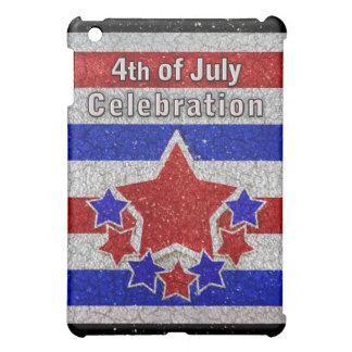 4. des Juli-Feier-Speck-Kastens iPad Mini Hülle
