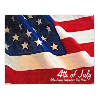 4. des Juli-FirmenParty-Unabhängigkeits-Tages 10,8 X 14 Cm Einladungskarte