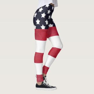 4. des Juli-Flagge-Unabhängigkeitstags Leggings