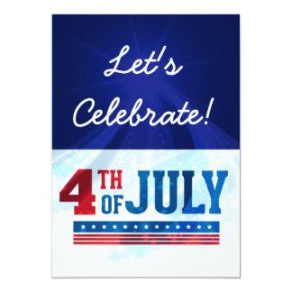 4. des Juli-UnabhängigkeitstagesParty lädt ein Karte