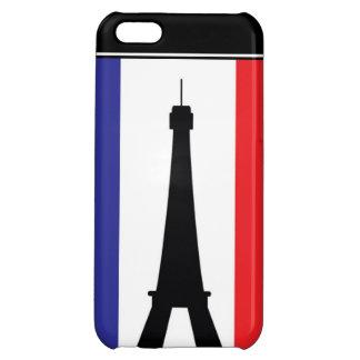 4 Eifel rotes weißes Blau des Turms iPhone 5C Cover