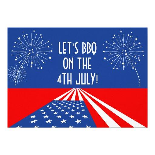 4. Einladung der Juli-Einladungs-/USA - Gewohnheit