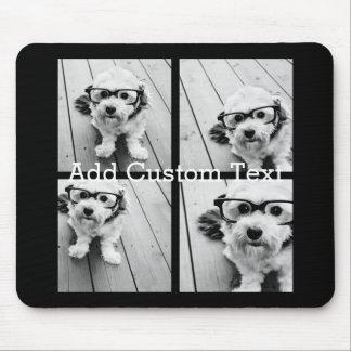 4 Foto-Collage - Sie können Hintergrundfarbe Mousepad